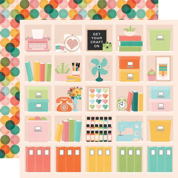 Scrapbooking  Hey, Crafty Girl Double-Sided Cardstock 12