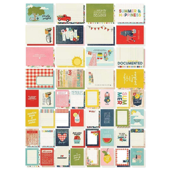 Scrapbooking  Simple Stories Sn@p! Card Pack 72/Pkg Summer Farmhouse Paper 12x12
