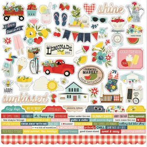 "Scrapbooking  Summer Farmhouse Cardstock Stickers 12""X12"" Combo Paper 12x12"
