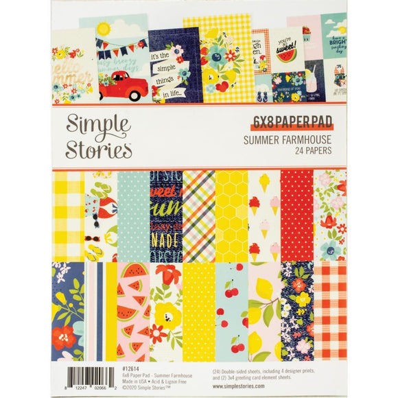 Scrapbooking  Summer Farmhouse Double-Sided Paper Pad 6