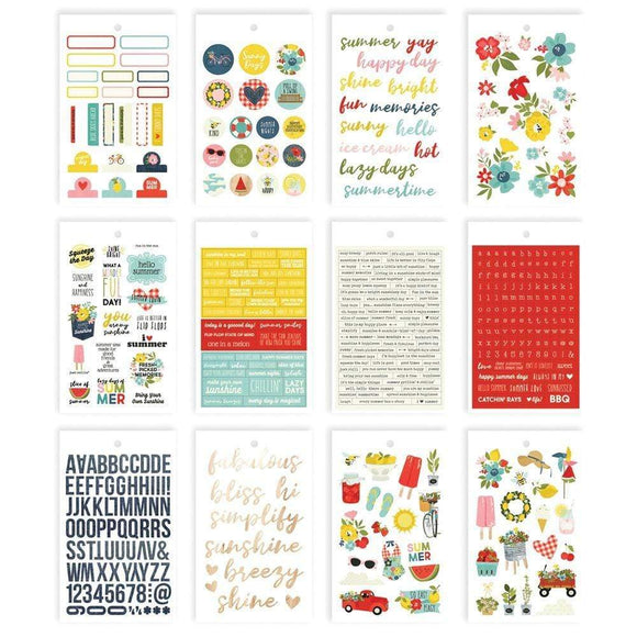Scrapbooking  Summer Farmhouse Stickers 4