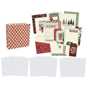"Scrapbooking  Simple Stories Sn@p! Binder 6""X8"" Jingle All The Way Paper Pad"