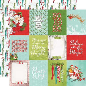 "Scrapbooking  Simple Vintage North Pole Double-Sided Cardstock 12""X12"" - 3x4 Elements Paper Pad"