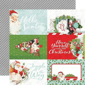 "Scrapbooking  Copy of Simple Vintage North Pole Double-Sided Cardstock 12""X12"" - 4x6 Elements Paper Pad"