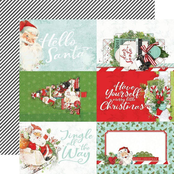 Scrapbooking  Copy of Simple Vintage North Pole Double-Sided Cardstock 12