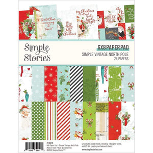 "Scrapbooking  Simple Vintage North Pole Double-Sided Paper Pad 6""X8"" 24/Pkg Paper Pad"