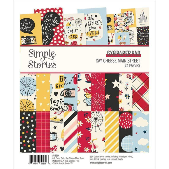 Scrapbooking  Say Cheese Main Street Double-Sided Paper Pad 6