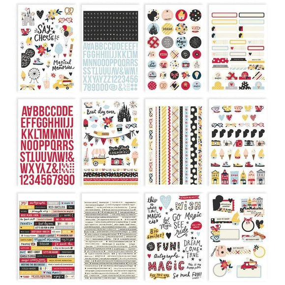 Scrapbooking  Say Cheese Main Street Sticker Book 12/Sheets Puffy Stickers