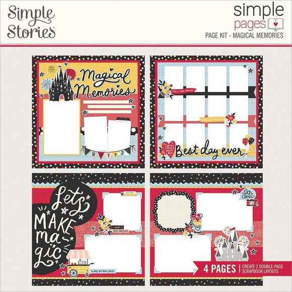Scrapbooking  Simple Stories Simple Pages Page Kit Magical Memories stickers