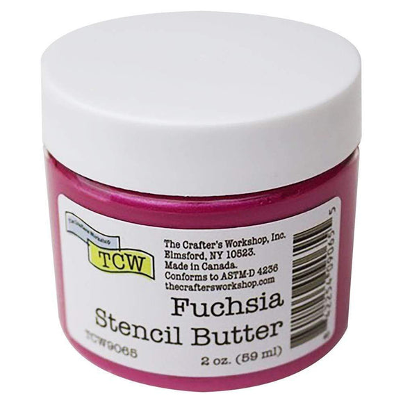 Scrapbooking  The Crafters Workshop Stencil Butter 2oz - Fuchsia Mixed Media