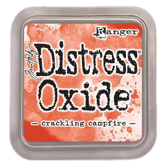 Scrapbooking  Tim Holtz Distress Oxides Ink Pad Crackling Campfire Paper Collections 12x12