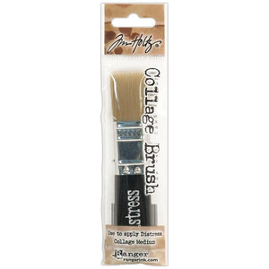 "Scrapbooking  Tim Holtz Distress Collage Brush 3/4"" Paper Collections 12x12"