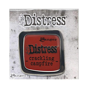 Scrapbooking  Tim Holtz Distress Enamel Collector Pin Crackling Campfire Paper Collections 12x12
