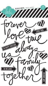 Scrapbooking  Vintage Chic Black and White Buzz Words Alphas