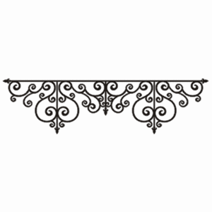 Scrapbooking  Twiddleybitz Nero Wrought Iron Border Chipboards