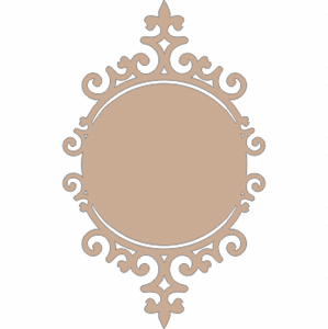 Scrapbooking  Twiddleybitz Ornate Circle Frame Chipboards