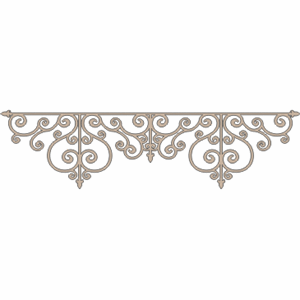 Scrapbooking  Twiddleybitz Wrought Iron Border Raw Chipboards