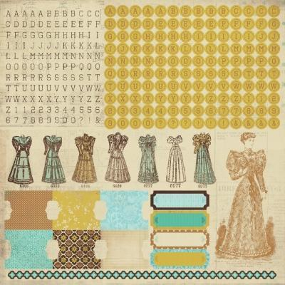 Scrapbooking  Sticker Sheet Alphas Madam Boutique ****Clearance Stock****
