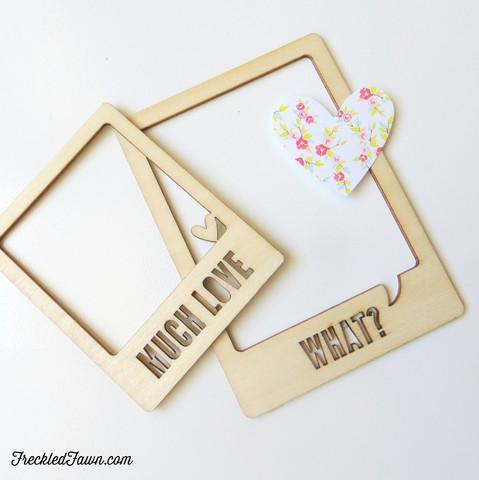 Scrapbooking  Freckled Fawn Wood Chips Frames What Embellishments