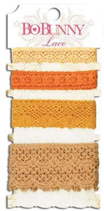 Scrapbooking  Lace Pack Harvest Orange Embellishments