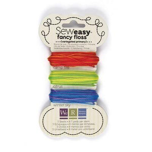 Scrapbooking  Sew Easy Variegated Floss Primary Embellishments