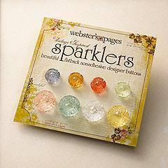 Scrapbooking  Websters Pages Sparklers Medallions Embellishments