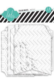 Scrapbooking  Colour Magic Note Tags with resist Heidi Swapp