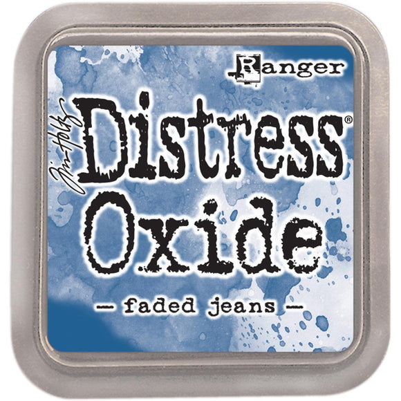 Scrapbooking  Tim Holtz Distress Oxides Ink Pad - Faded Jeans Paper Collections 12x12