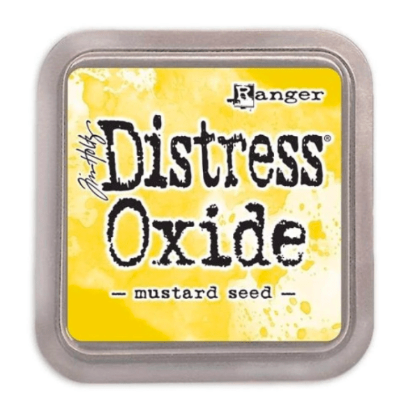 Scrapbooking  Tim Holtz Distress Oxides Ink Pad - Mustard Seed Paper Collections 12x12