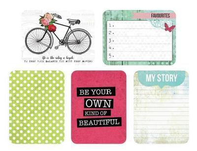 Scrapbooking  Captured Moments Lifes Treasures 3x4 inch Cards Kaisercraft