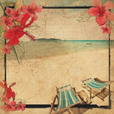 Scrapbooking  Tropicana Deck Chair Specialty Paper Kaisercraft