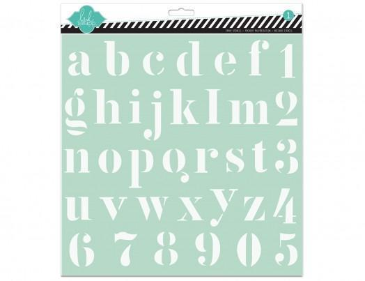 Scrapbooking  Heidi Swapp Alphabet Template12x12 Masks and Templates