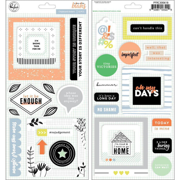 Scrapbooking  A Case Of The Blahs Stickers 5.5