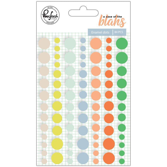 Scrapbooking  A Case Of The Blahs Enamel Stickers 84/Pkg Dots Paper Collections 12x12