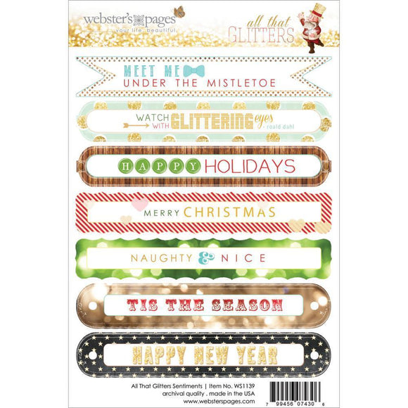 Scrapbooking  All that Glitters Sentiments Stickers Paper Collections 12x12