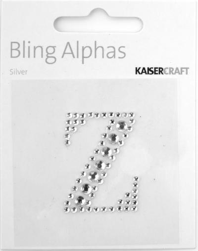 Scrapbooking  Alpha Silver Rhinestone  Z Paper Collections 12x12
