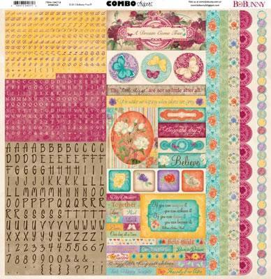 Scrapbooking  Ambrosia Combo Stickers Paper Collections 12x12