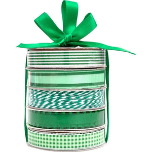 Scrapbooking  American Crafts Premium Ribbon & Twine 5-Packs - Dark Green Paper Collections 12x12