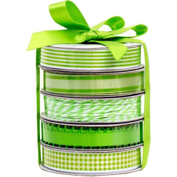 Scrapbooking  American Crafts Premium Ribbon & Twine 5-Packs - Spring Green Paper Collections 12x12