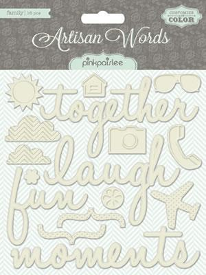 Scrapbooking  Artisan Words Family Paper Collections 12x12