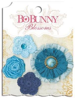 Scrapbooking  Blossoms Denim Blue Dahlia Paper Collections 12x12