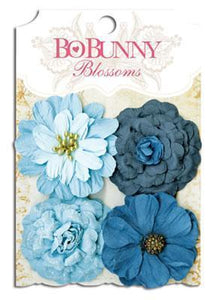 Scrapbooking  Blossoms Denim Blue Zinnia Paper Collections 12x12