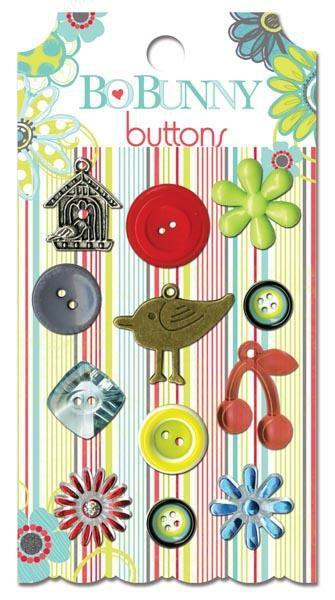 Scrapbooking  Bo Bunny Alora Buttons Paper Collections 12x12