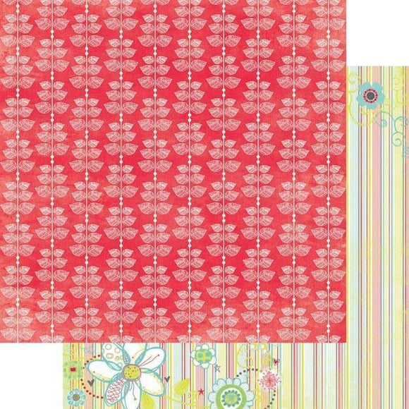 Scrapbooking  Bo Bunny Alora Leaves Paper Collections 12x12