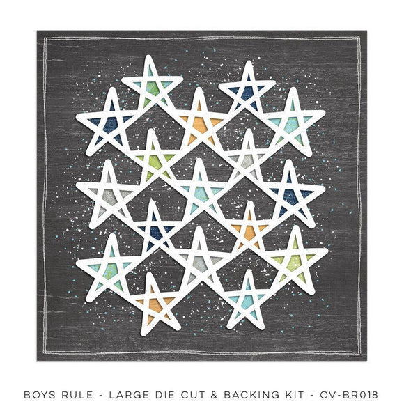 Scrapbooking  Boys Rule Large Die Cut And Backing Sheet Paper Collections 12x12