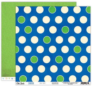 Scrapbooking  Cameron Big Dots Paper Double Sided 12x12 Paper Collections 12x12
