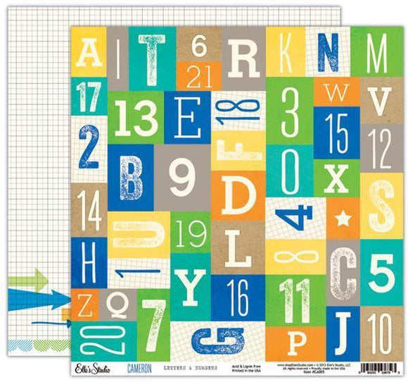 Scrapbooking  Cameron Letters and Numbers Paper Collections 12x12