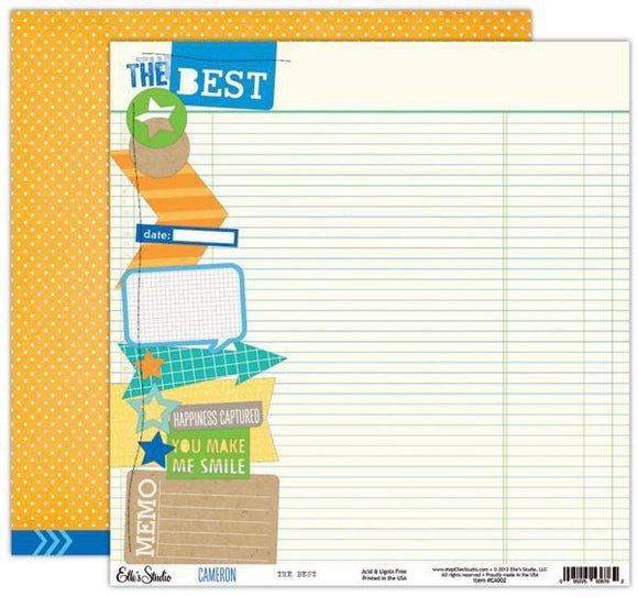 Scrapbooking  Cameron The Best Paper  12x12 Double Sided Paper Collections 12x12