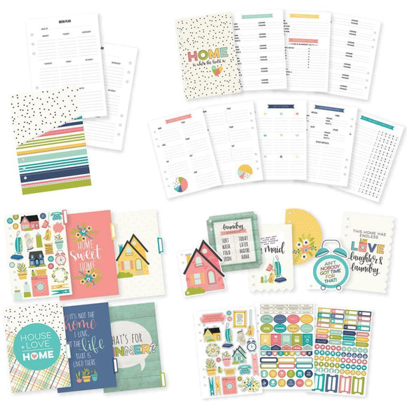 Scrapbooking  Carpe Diem Domestic Bliss Home Planner Inserts A5 - 54pc Paper Collections 12x12