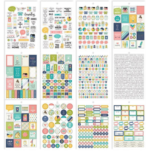 Scrapbooking  Carpe Diem Domestic Bliss Home Stickers A5 12/Pkg Paper Collections 12x12